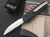 Wholesale Best Value Microtech Scarab Executive D A S E Automatic Knife quot Satin CNC D2 Steel T6 Tactical Camping Knife F616E
