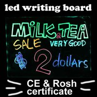 Wholesale LED Message Writing Board Inch Full Color Billboard Toughened glass Fluorescent Screen Write Board Advertising SCRN