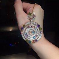 alhambra clover necklace - Luxury Brand Designer Women Vintage Alhambra long diamonds Necklace Motifs bead necklace Clover Pendants For Wedding Party Jewelry cm