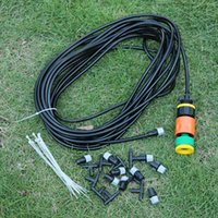 Wholesale 10 m Ft Outdoor Garden Misting Cooling System Plastic Mist Nozzle Sprinkler Watering Irrigation Watering Kits