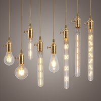 Wholesale W W W W W E27 LED Filament Bulb Clear Glass Edison Light Bulbs For indoor Vintage Lamp Lighting