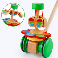 animal shooting - Early Education wooden Toy baby Children Walker Single Shot Spiral Wooden Animal Trolley Walker Children s Educational Toys Early Childhood