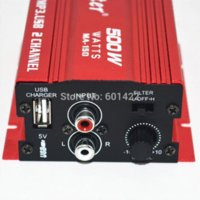 Wholesale Hot Sale car audio amplifier W Channel Mini Hi Fi Stereo Audio Amplifier Amp Car Motorcycle Amplificador Red