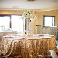 Wholesale 2016 Sequined Table Cloth High Quality Wedding Decorations Table Skirting Party Birthday Supplies Wholesalefactory
