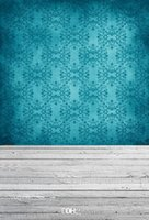 Wholesale 5X7ft x2 m Turquoise damask printed photography backdrops thin vinyl cloth for Studio newborn photo background xt