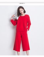 average women waist size - In the fall and winter of new wide legged pants pants of seven female height average size pants pants elastic waist loose culottes bigf