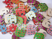 Wholesale 100PCS Holes elephant button Eco Friendly lovelly and cute children gifts
