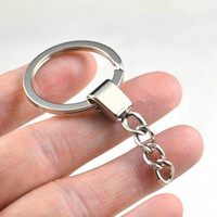 Wholesale Key Rings Stronger with Chains key holders mm split keyrings Metal rings Fashion DIY parts