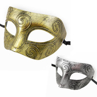 Wholesale Men s Adult Venetian Masquerade Costume Roman Facial Eye Mask Fancy Dress Ball