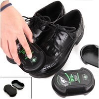 Wholesale Multifunctional double faced Leather Polishing Cleaning shoe polish Colorless light shoes rub leather care oil sponge shoe wax