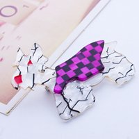 american souvenirs - New Arrival Fashion Acrylic Badge Kimdoo The Terrier Westie Scottie Dog Pin Cute Brooches Dog Pin up Women Bag Souvenir Broche Epaulette Hot