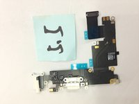 Wholesale For Apple iPhone plus USB Charging Port Plug Flex Cable High Quality USB Charger Port Dock Connector Flex Cable audio flex Repair Parts
