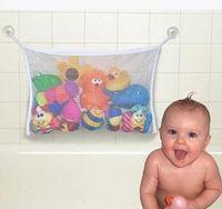 bath storage net - Baby Toy Mesh Storage Bag Bath Bathtub Doll Organizer Suction Bathroom Stuff Net