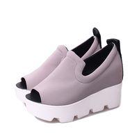adhesive fabric letters - Shoe Woman Platform Women Sandals Summer Wedge Thick High Heel Letter Open Toe Slip On Women s Shoe HR646