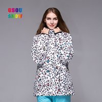Wholesale 2016 GSOU SNOW white new fashion vintage thick colorful camo ski jackets women ladies female windproof waterproof breathable