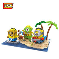 Wholesale LoZ Building Toy Minions in Beach Party of bricks nanoblock toy gift puzzle minifigure No Box
