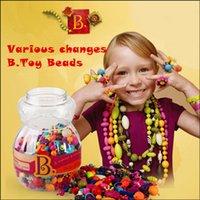 american intelligence - B Toys bead Children DIY rings bracelets puzzle educational toys intelligence beaded Genuine American Variety Pop cm