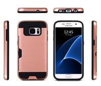 Cheap 2016 Lasi Brushed Case Hybrid Rugged Credit Card Slot Back Cover for Samsung ON5 G530 Grand Prime LG V10 G5 K7 K10 LS770 LS775 Moto G4