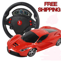 Wholesale Mini Channels steering wheel Electric Toy RC Car Gravity Sensing Remote Control Automobile Racing Car Toys High Speed Model