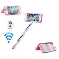 abs timer - Handheld Selfie Stick Case Self timer Retractable Aluminum Back Cover for Apple iPhone