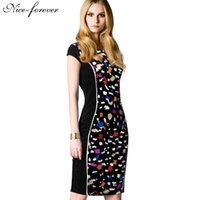 abstract dress designs - Career Elegant Slim Design Abstract Dots Fitted Dress Plus Size Summer Mysterious Sleeveless Work Bodycon Vintage Dress