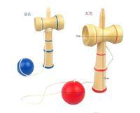 Wholesale cm kendama cup and ball game kendama japanese toy wooden toy kendama skills ball crack jade sword ball