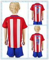 atletico madrid youth - Fast Uniforms Kit Youth Kids Soccer Jersey Atletico Madrid Oliver Koke Griezmann F Torres Home White Red Stripe Jerseys
