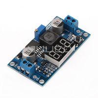 al por mayor 12v regulador de voltaje llevado-LM2596 módulo del voltímetro de CC ajustable DC Descender Buck convertidor de 24V a 12V para la exhibición de LED de alimentación Regulador de la fuerza de tensión de 5V 2A