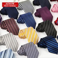 Wholesale DHL Striped Plained Red Blue Yellow Gray Diomend Arrow Style Jacquard Men s Business Casual Professional Neck Ties
