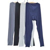 bamboo pajama pants - Discount Men s Bamboo Fiber Underwear Long Sweatpants Pajama Johns Pants Comfortable L XXL Eco friendly