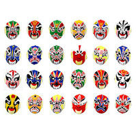 Wholesale Plastic Mask Flocking Peking Opera Face Changing Special Props Chinese Mask