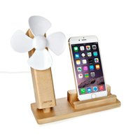 Wholesale Brand new and high quality Seenda in Desktop USB Cooling Fan Blower Universal Wooden Phone Holder