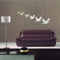 best pigeons - The Best Quality DIY Six Pigeons Flying Acrylic Mirror Wall Sticker Art Home Decal Decoration Durable