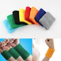 Wholesale Unisex Wrist Support Sports Band Safety Cotton Basketball Tennis Gym Volleyball Badminton Cuff Sweatband Wristband