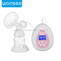 Wholesale Wonsee Smart Breast Pump Crystal Glass Bottle Ultra Quiet Multi mode Painless Suck Massage Breast Promote Breast Milk Secretion for Baby