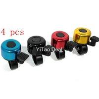 Wholesale 4pcs Aluminium Alloy Loud Sound Bike Bell with Bracket Four Colors Color Assorted