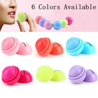 Wholesale 2016 Hot Makeup Round Candy Color Moisturizing Lip Balm Natural Plant Sphere Lip Gloss Lipstick Fruit Embellish Lip Smacker