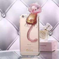 apples monkey - High quality Monkey Silicone Mobile Case Shell TPU Color for iphone5 S Plus G SPlus cases