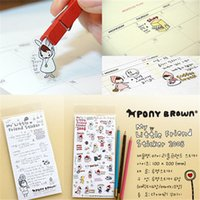 Wholesale 6 lovely stationery sets of cute little red decoration girl clip stickers office stationery planner