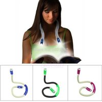 Wholesale LED Lumens Hands Free Flexible Neck Light Reading Flashlight Lamp Book Light