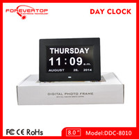 Wholesale new wall clock inch LED alarm calendar Day clocks table clock digital alarm clock elderly clock
