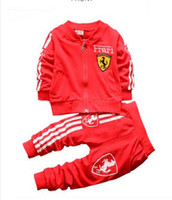 Wholesale Cardigans For Boys 3t - Baby Boy Girl Clothing Set For Toddler Boys Clothes Tracksuits Kids Sport Suit Set Casual Cardigan Coats Sweatshirts+Pants 2PCS