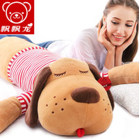 Wholesale Lie prone on the dog pillow stuffed dog doll sleep pillow doll girl a birthday present children s doll