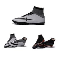 Wholesale Men Superfly CR7 TF Football Shoes Hypervenom Phantom Football Boots Magista Obra Soccer Shoes Indoor Snekers Trainers Shoes Cleats