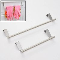 bath towel cabinet - Portable Stainless Steel Towel Bar Tower Holder Hanger for Kitchen Bathroom Cabinet Cupboard Door Hanger Hanging Bar Hook JI0174