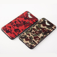 ape shirts - New Ape man Camouflage T shirt Camo Case Soft TPU Silicone Meisai Back Cover Protector For iphone S plus S plus phone shell