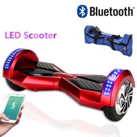 bags music - Phone APP Music Player Hoverboard Bluetooth quot Two Wheel LED Scooter Self Balancing Wheel Smart Scooter Bag Skateboard Electric Dropshipping