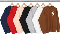 Wholesale Suprem Sweatshirts Fashion Brand Purpose Tour Sweatshirts Classic Suprem box Sweatshirt Hip Hop Men s Autumn Sweatshirts
