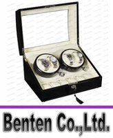 Wholesale Winder Storage Case Display Box Black Brown Leather Automatic Rotation Watch LLFA88