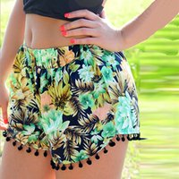 Wholesale Good quality Fishion Polka Dot Tassel Hot shorts pant Beach Pants Beach shorts summer d0058